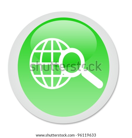 world wide web search button - stock photo