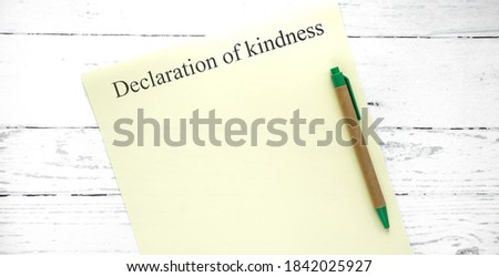 worlh kindness day. words from wooden cubes with letters. good heart photo Photo stock ©