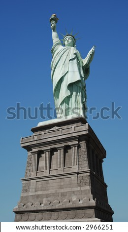 view from the statue of liberty torch. stock photo : Worm#39;s eye view