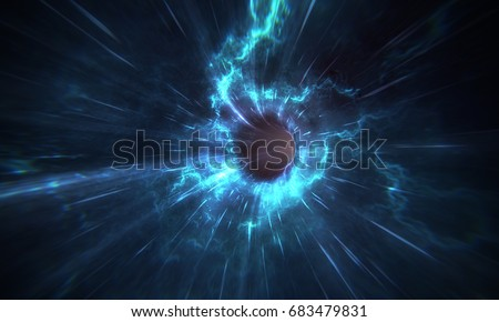 Stock Photo Wormhole 3D render