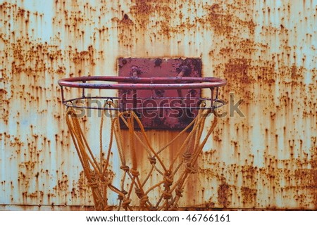 Worn Basket Ball ring