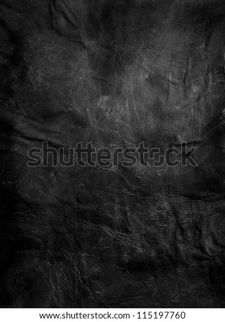 worn black leather background