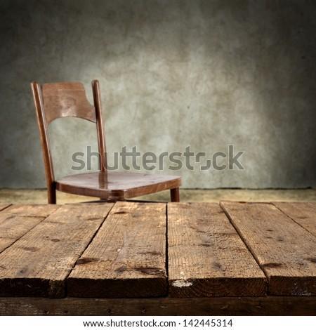 worn furniture in old interior
