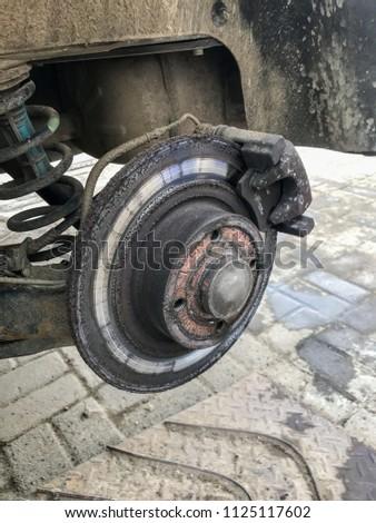 Worn out disk brake #1125117602