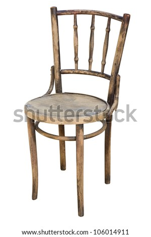 worn-out, old wooden chair