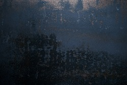 Worn out rusted black metal texture grunge background