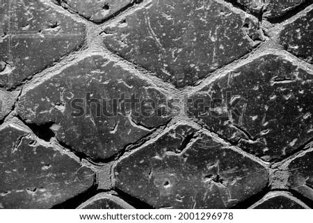 Worn tire tread. Texture, background, pattern Stock photo ©
