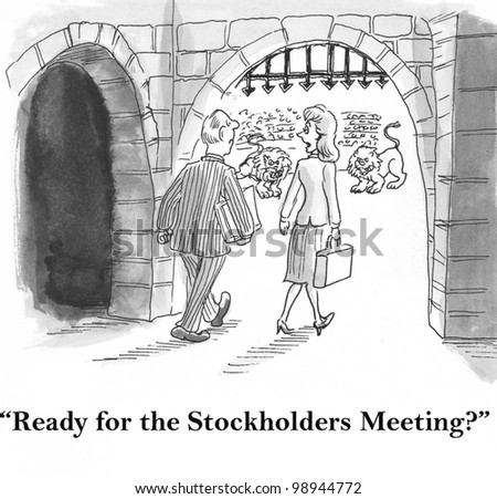 worried execs come to the forum for stockholders meeting