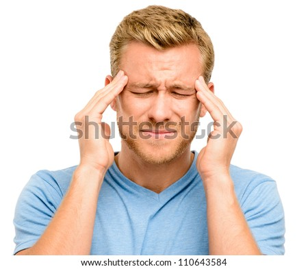 Worried young man suffering from headache #110643584