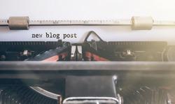 wors new blog post written on vintage manual typewriter