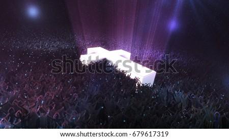 Worship service, celebration at night