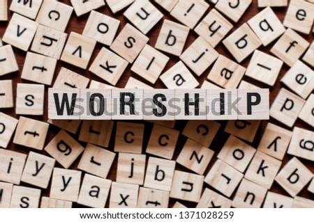 Worship word concept