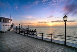 Worthing Pier, West Sussex at sunset