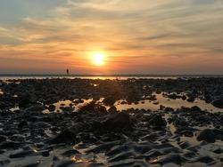 Worthing West Sussex beach sunset