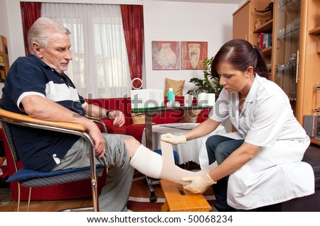 Wound care by a nurse