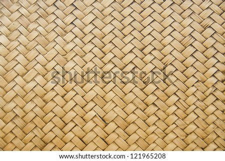 Woven bamboo patterns stock photo 121965208 shutterstock for Bamboo weaving tutorial