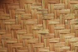 woven bamboo texture for background