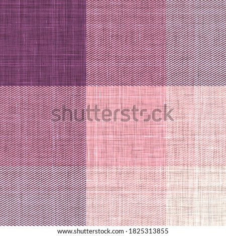 Woven cloth plaid background  pattern. Traditional checkered home decor linen cloth texture effect. Seamless soft furnishing fabric.  Variegated melange winter tartan weave all over print.  Photo stock ©