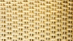 Woven fabric pattern of artificial rattan material.
