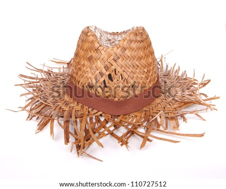 Woven Hat on white background
