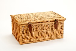 Woven suitcase