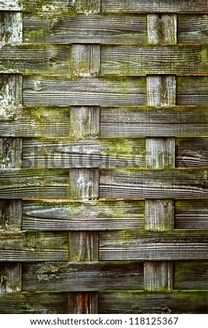 Woven Wood texture 03 - with weathered look, old, crossed