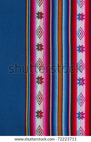 Woven wool fabric from Bolivia
