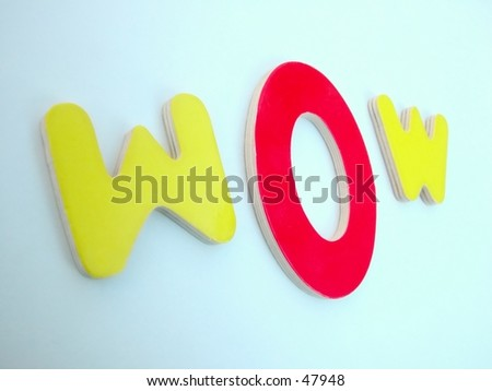 wow letters with focus on the u