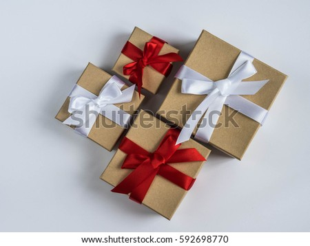 wrapped vintage gift box with...