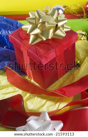 Wrapping of a Christmas gifts