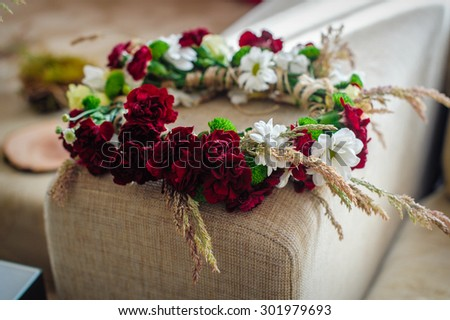 wreath of flowers for the bride.