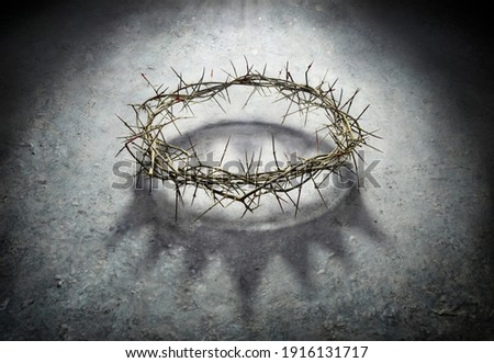 Wreath Of Thorns With King Crown Shadow - Passion And Triumph Of Jesus Stockfoto ©