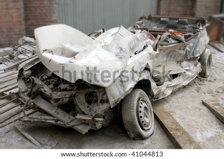wreck of the car