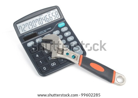 Wrench and calculator