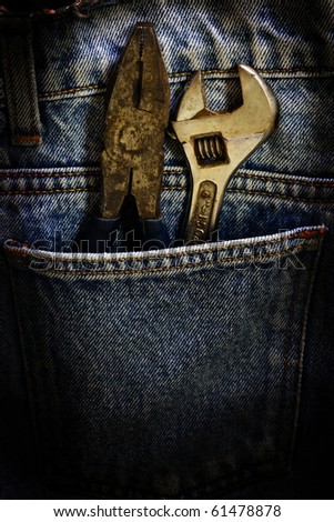 Wrench and fabric jeans