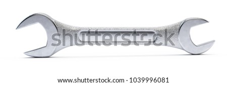 Wrench isolated on white. 3d rendering
