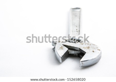 wrench on white background