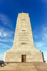 Wright brothers memorial, NC, USA.