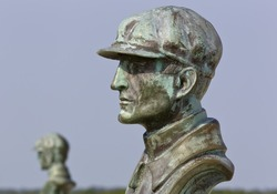 Wright Brothers National Memorial, located in Kill Devil Hills, North Carolina, commemorates the first successful, sustained, powered flights in a heavier-than-air machine.