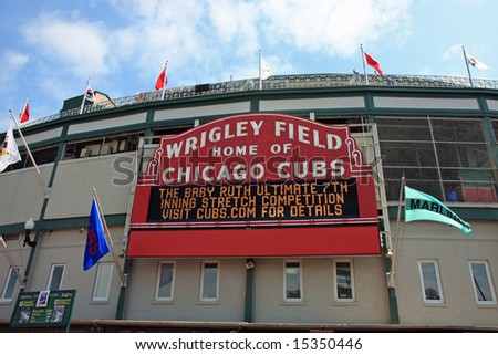 Wrigley Field, Home of the Chicago Cubs Baseball Team