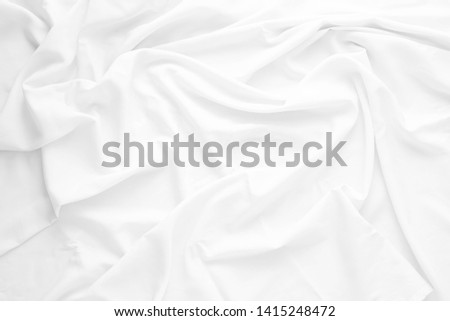 Wrinkled fabric ,white fabric texture background