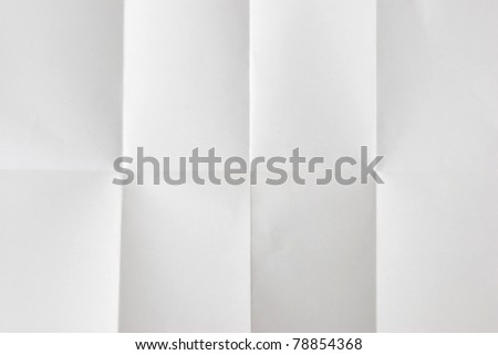 wrinkled fold white sheet of paper texture