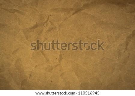 wrinkled paper craft