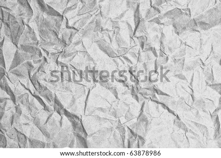 wrinkled paper harden texture closeup as a background