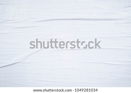 wrinkled white weathered creased urban billboard poster texture background