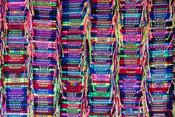 wrist bands of names in multiple colors whats in a name. Is my name here. Names on display