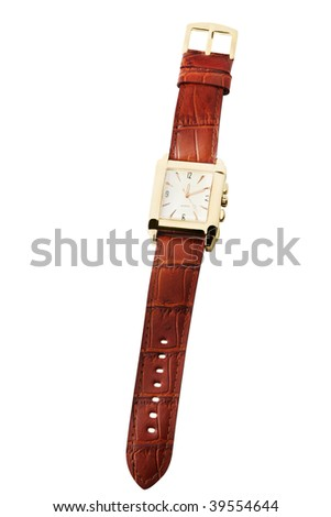 Wrist watch isolated on white
