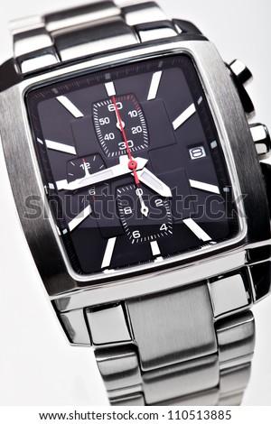 Wrist watchon a white background