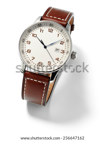 wristwatch for man,isolated
