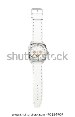 Wristwatch isolated on a white background